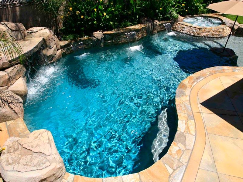Greecian pools bakersfield ca freeform swimming pools for Pool design free